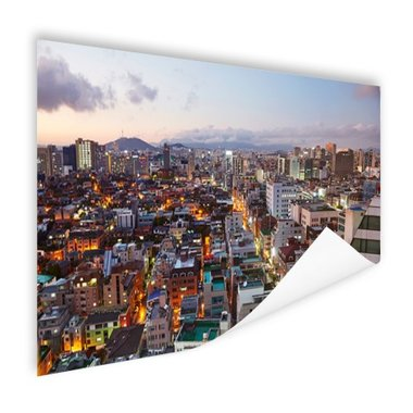 Luchtfoto Gangnam district Seoul - Poster