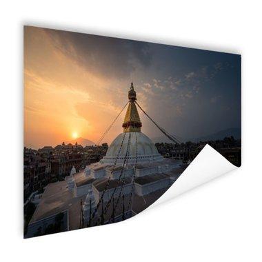 Stoepa avondlicht Kathmandu - Poster