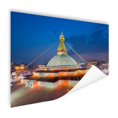 Stoepa en gebedsvlaggen Kathmandu - Poster