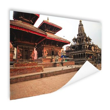 Durbar plein Kathmandu - Poster