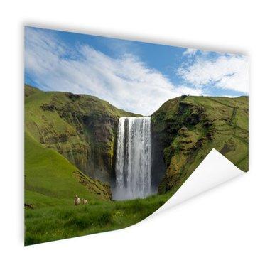 Skogafoss waterval in IJsland - Poster