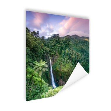 Waterval bij zonsondergang - Poster