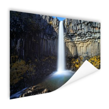 Svartifoss waterval in IJsland - Poster