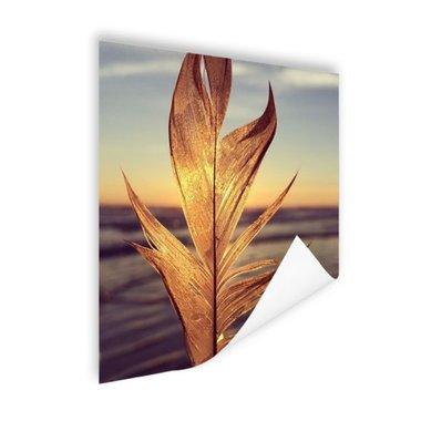 Veer bij zonsondergang foto - Poster
