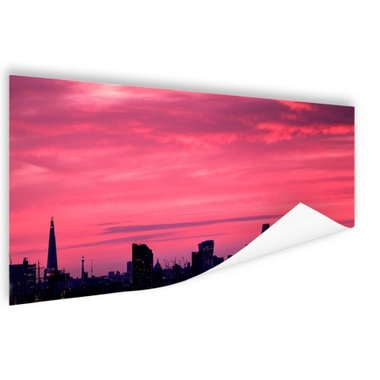 Londen skyline bij zonsondergang - Poster