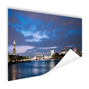 Londen skyline in de avond - Poster