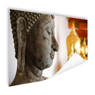 Boeddhahoofd in Wat Pho tempel Bangkok - Poster