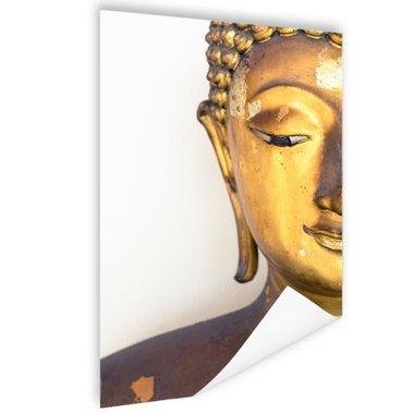 Gouden Boeddha hoofd - Poster