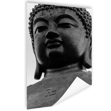 Zwart-wit van de Tian Tan Boeddha - Poster
