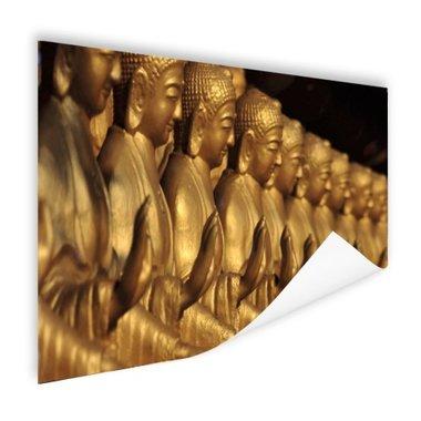 Buddhas op een rij - Poster