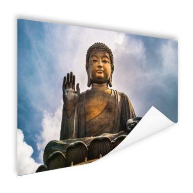 Boeddha beeld in open lucht - Poster