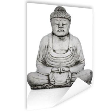 Stenen standbeeld van Boeddha - Poster