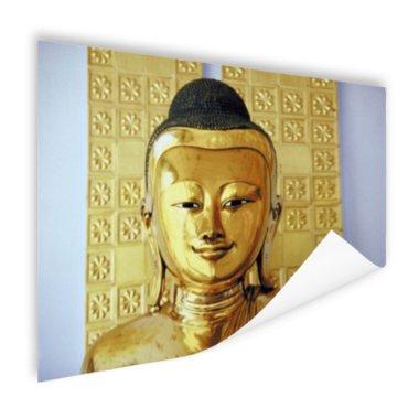 Gouden Boeddha beeld - Poster