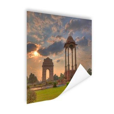 India Gate zonsondergang - Poster