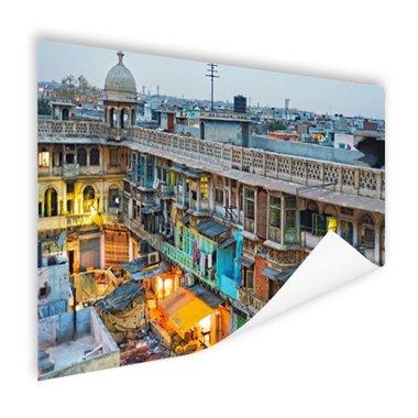 Appartementen in oud Delhi - Poster