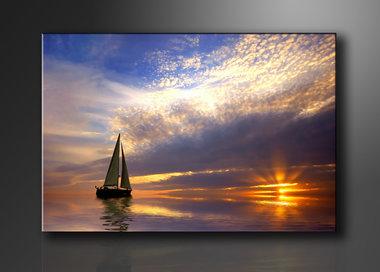 Zeilboot - Canvas Schilderij 120 x 80 cm