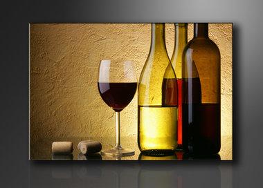 Wijn - Canvas Schilderij 120 x 80 cm