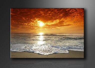 Strand - Canvas Schilderij 120 x 80 cm
