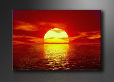 Zonsondergang - Canvas Schilderij 120 x 80 cm