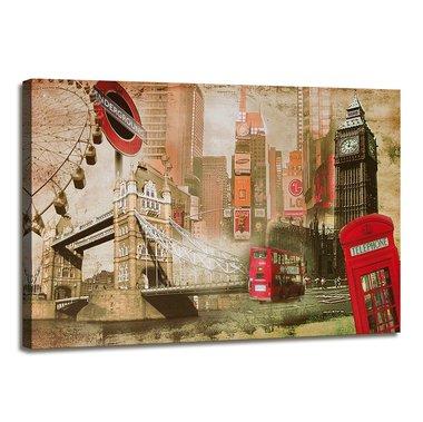 Londen - Canvas Schilderij 120 x 80 cm