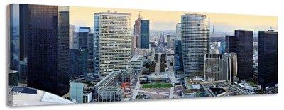 Parijs - Canvas Schilderij Panorama 118 x 36 cm
