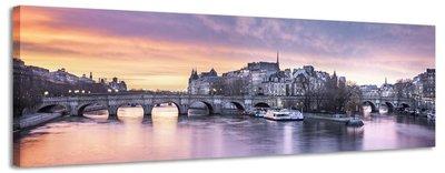 Seine - Canvas Schilderij Panorama 158 x 46 cm