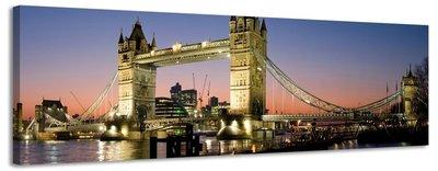 Tower Bridge - Canvas Schilderij Panorama 158 x 46 cm