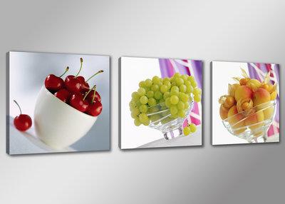 Fruit - Canvas Schilderij Drieluik 150 x 50 cm