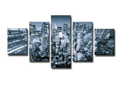 New York - Canvas Schilderij Vijfluik 160 x 80 cm