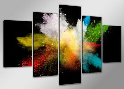 Abstract 'Anja' - Canvas Schilderij Vijfluik 200 x 100 cm