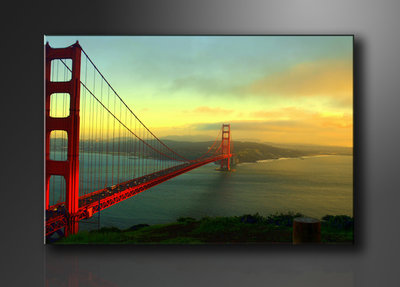 Golden Gate Bridge - Canvas Schilderij 120 x 80 cm