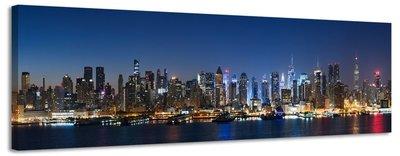 skyline new york canvas schilderij panorama 158 x 46 cm
