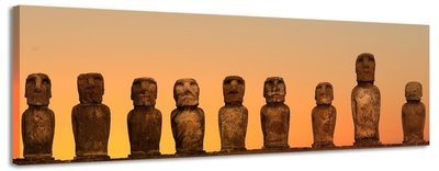 Paaseiland - Canvas Schilderij Panorama 158 x 46 cm