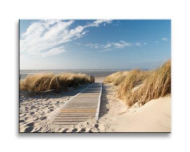 Canvas schilderij 40 x 30 cm strand mooie - Badspiegel 50 x 70 ...