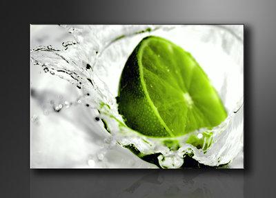Limoen - Canvas Schilderij 80 x 60 cm