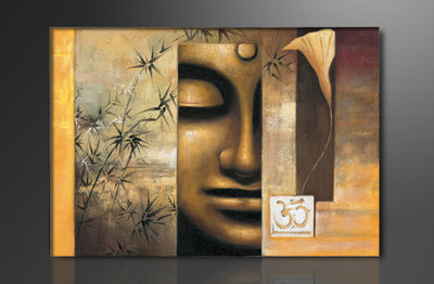 canvas schilderij 80 x 60 cm buddha mooie. Black Bedroom Furniture Sets. Home Design Ideas