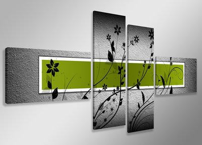 Canvas Schilderij Vierluik 160 X 70 Cm Groen Mooie Wanddecoratie Nl