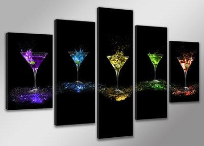 Glazen - Canvas Schilderij Vijfluik 200 x 100 cm