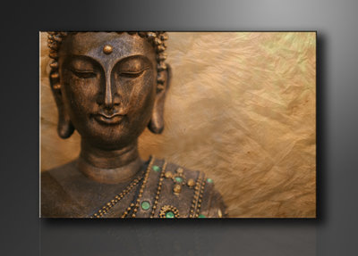 Buddha - Canvas Schilderij 120 x 80 cm