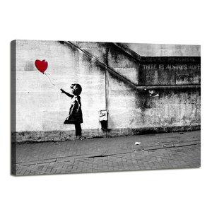 Banksy Ballon - Canvas Schilderij 80 x 60 cm